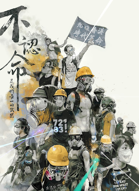 """Fight for Freedom - Stand With Hong Kong"" -  Hong Kong Protest art 2019"