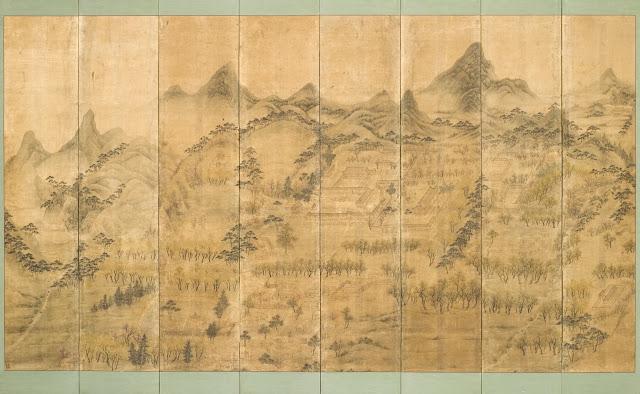 석파정도(石坡亭圖) 병풍, 이한철, 조선, 1860년,  면에 색