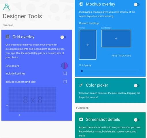 شرح تطبيق Designer Tools