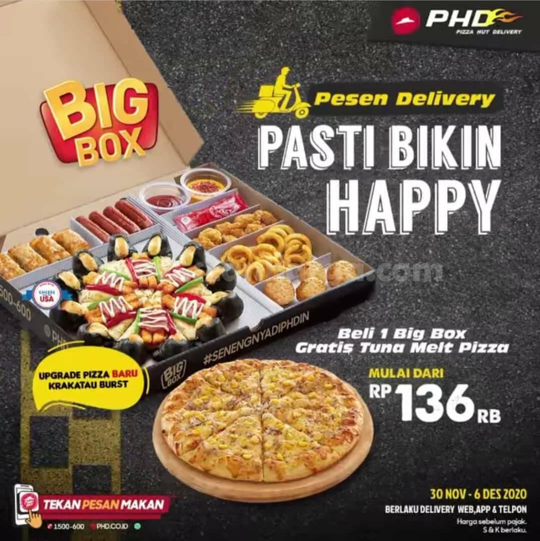 PHD Promo Beli Big Box langsung dapet 1 Tuna Melt Gratis