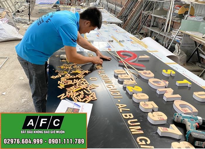 Thi công bảng hiệu Studio Đông Vũ - Phú Quốc