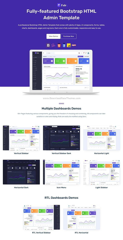 Bootstrap Admin Dashboard Template