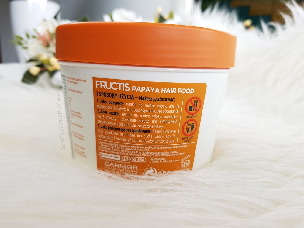 GARNIER FRUCTIS PAPAYA HAIR FOOD – recenzja