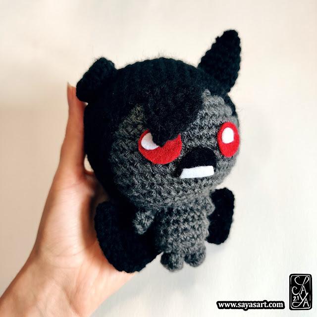 Amigurumi peluche - Azazel - The Binding of Isaac - crochet jeu vidéo video game goodies plush cute mignon kawaii Saya's Art geek cadeau gift