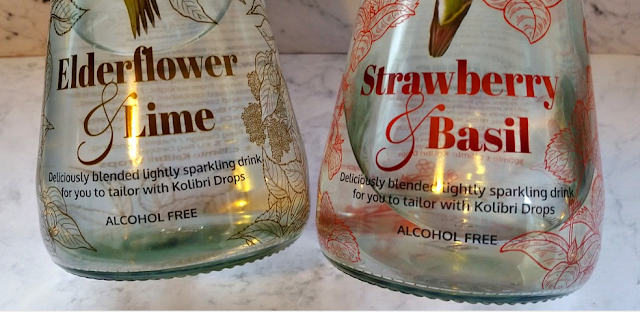 2 close up of the Kolibri bottles saying the flavours.