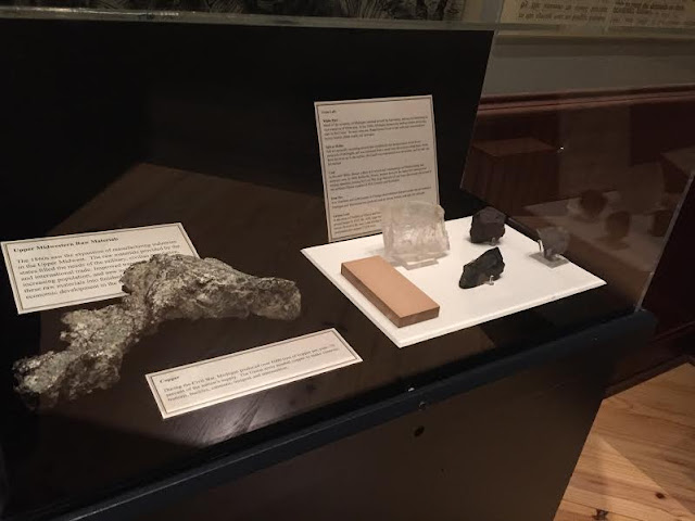Samples of ores mined in the Midwest in support of the war effort during the Civil War.