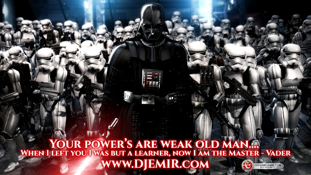 Darth Vader Your powers are weak old man when I left you I was but a learner now I am the master