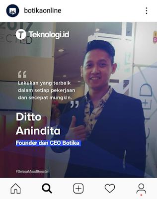 Ditto Anindita sebagai Founder dan CEO Botika