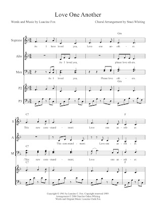 Love One Another / As I Have Loved You Arrangement Snapshot of Free Sheet Music
