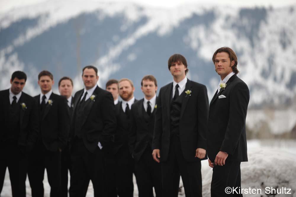 Jared Padalecki And Genevieve Cortese Wedding Red Carpet
