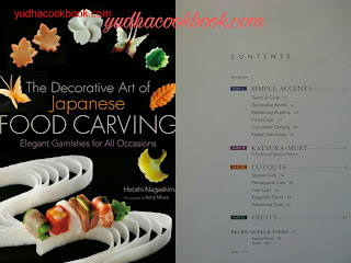 Garnish ebook, THE DECORATIVE ART OF JAPANESE FRUIT CARVING - Elegant Garnishes For All Occasions