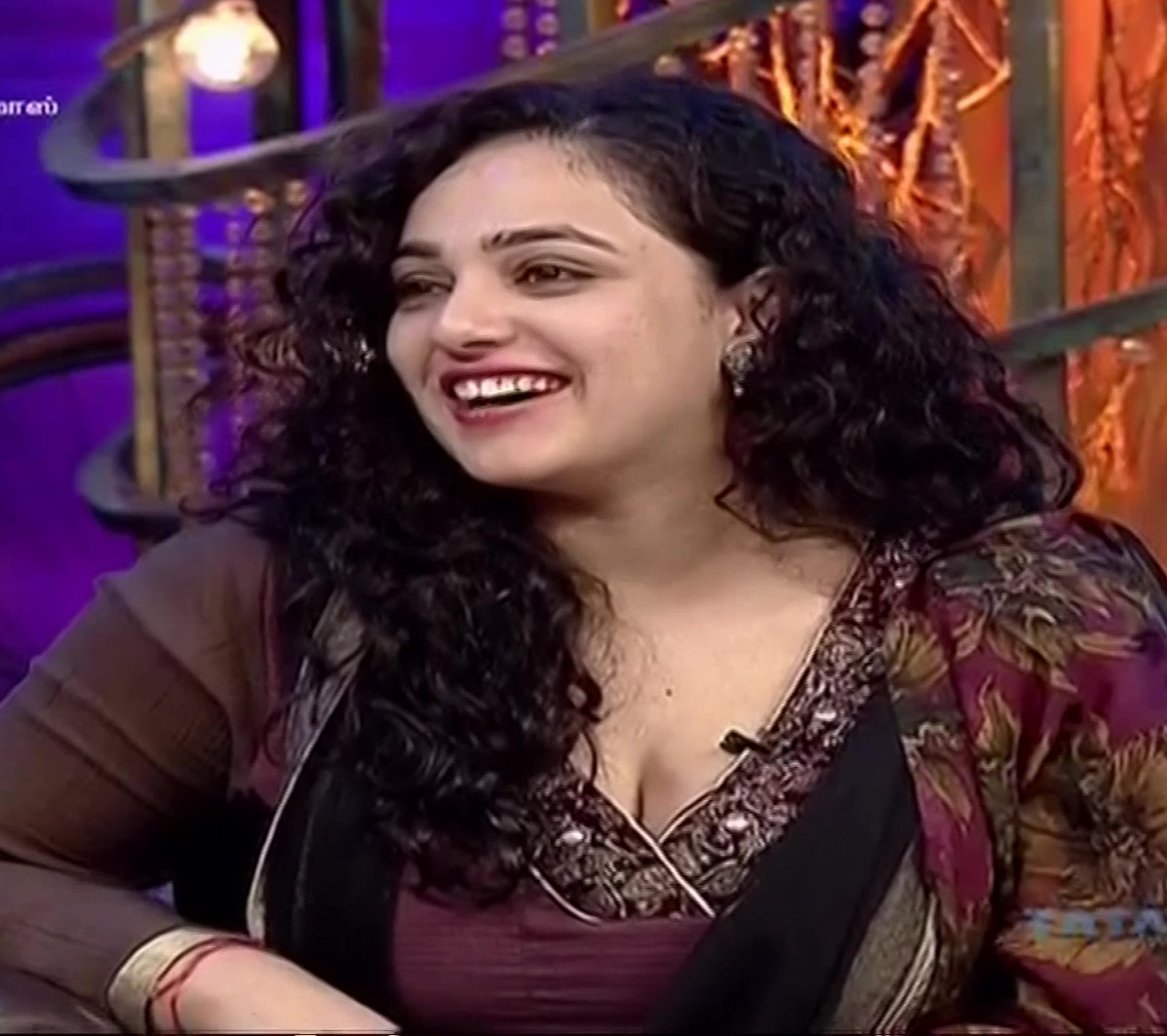 Nithya Menen hot cleavage show From an Interview