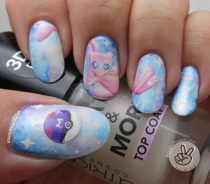 Freehand Pokemon Go Go Go Mew Nails Ithinitybeauty Nail Art Blog