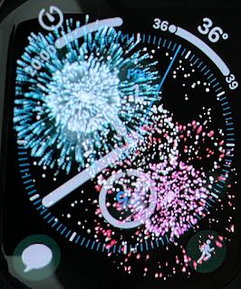 Digital Fireworks on Apple Watch