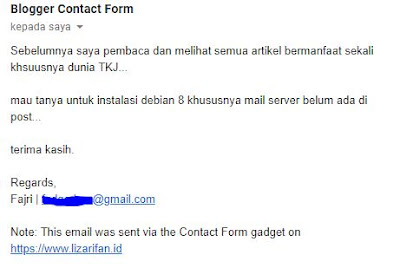 Email Request Mail Server Debian 8