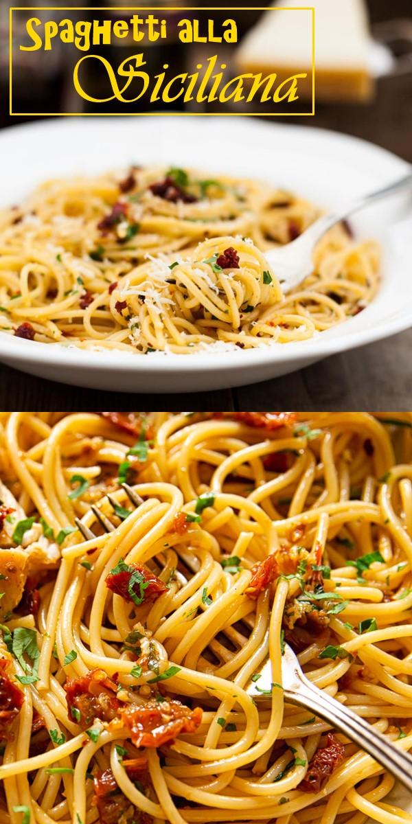 Spaghetti alla Siciliana #pastarecipes