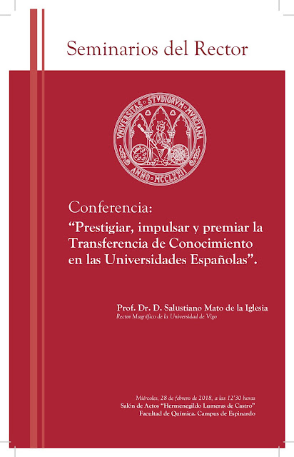 """Conferencia: """"Prestigiar, impulsar y premiar la Transferencia de Conocimiento en las Universidades Españolas"""""""