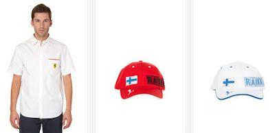 Camisa y gorra de Ferrari