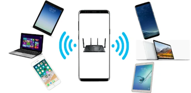 طريقة مشاركة الوايفاي من هاتفك عندما يكون متصل بـ WiFi