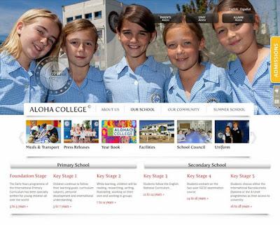 Diseño web para el colegio internacional Aloha College situado en Marbella