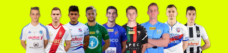 Młodzieżowcy klubów walczących o TOP7<br><br>fot. wigrysuwalki.eu, wyborcza.pl, wartapoznansa.pl, tspodbeskidzie.pl, odraopole.pl, gkstychy.info, stomilolsztyn.com, rksrakow.pl, sandecja.pl