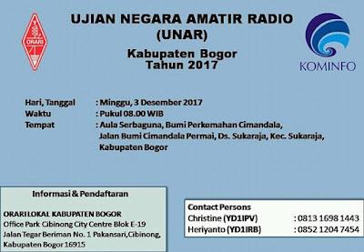 Pengumuman UNAR periode Desember 2017 di Kabupaten Bogor