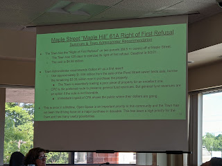 Community Preservation Committee votes 9-0 to approve 'right of first refusal' (audio)