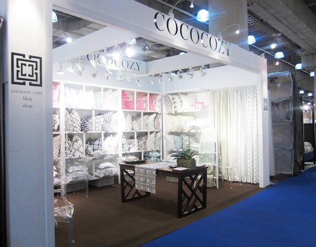 finished COCOCOZY booth at the New York International Gift Fair