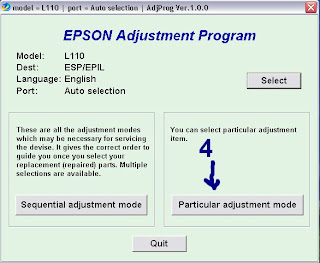 reset Epson L110