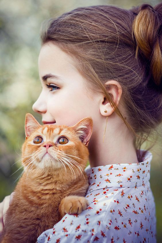 Cute Little Child with cat lovely fb Dp