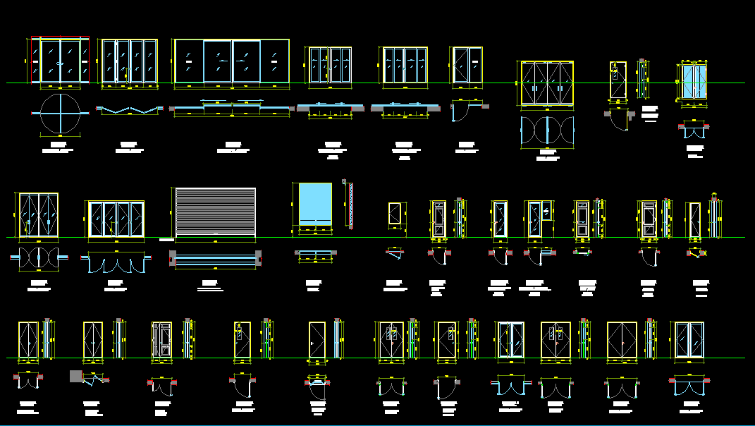 Doors Puertas Dwg Zent Design 2d