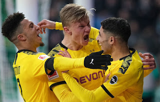 Bremen 0-2 Dortmund: Haaland's 40th goal of season keep BVB's title bid on track