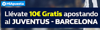 William Hill promocion 10 euros gratis Juventus vs Barcelona 22 noviembre