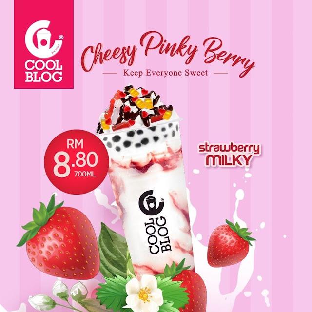 Coolblog Perkenal Minuman Baru Cheese Pinky Berry Dengan Aura Merah Jambu