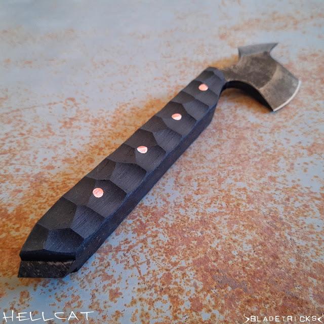 custom made tomahawk black FRN handle