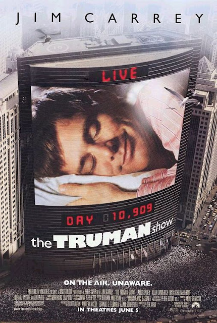 The Truman Show, BluRay, Movie Poster, Directed by Peter Weir, starring Jim Carrey, Ed Harris, Laura Linney