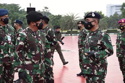 Panglima TNI Terima Laporan Kenaikan Pangkat 57 Perwira Tinggi