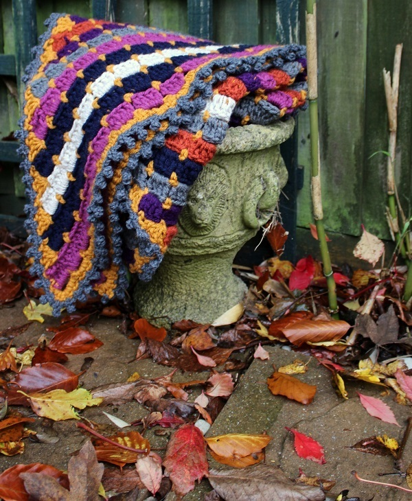crocheted late summer shawl