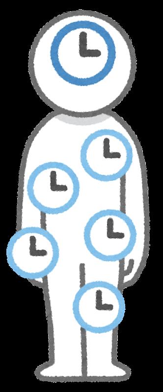 体内時計のイラスト | かわいいフリー素材集 いらすとや