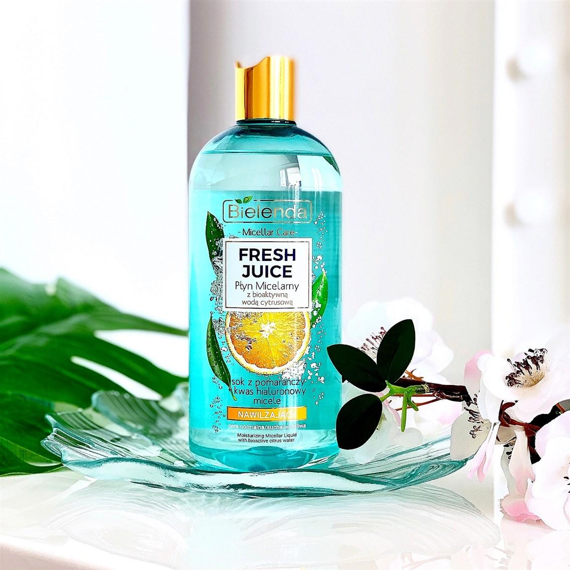 Bielenda Fresh Juice nawilżający płyn micelarny pomarańcza opinie