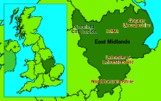 East Midlands Map