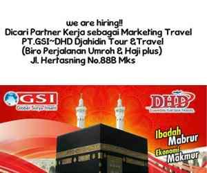 Lowongan Kerja di PT GSI DHD Djahidin Tour & Travel