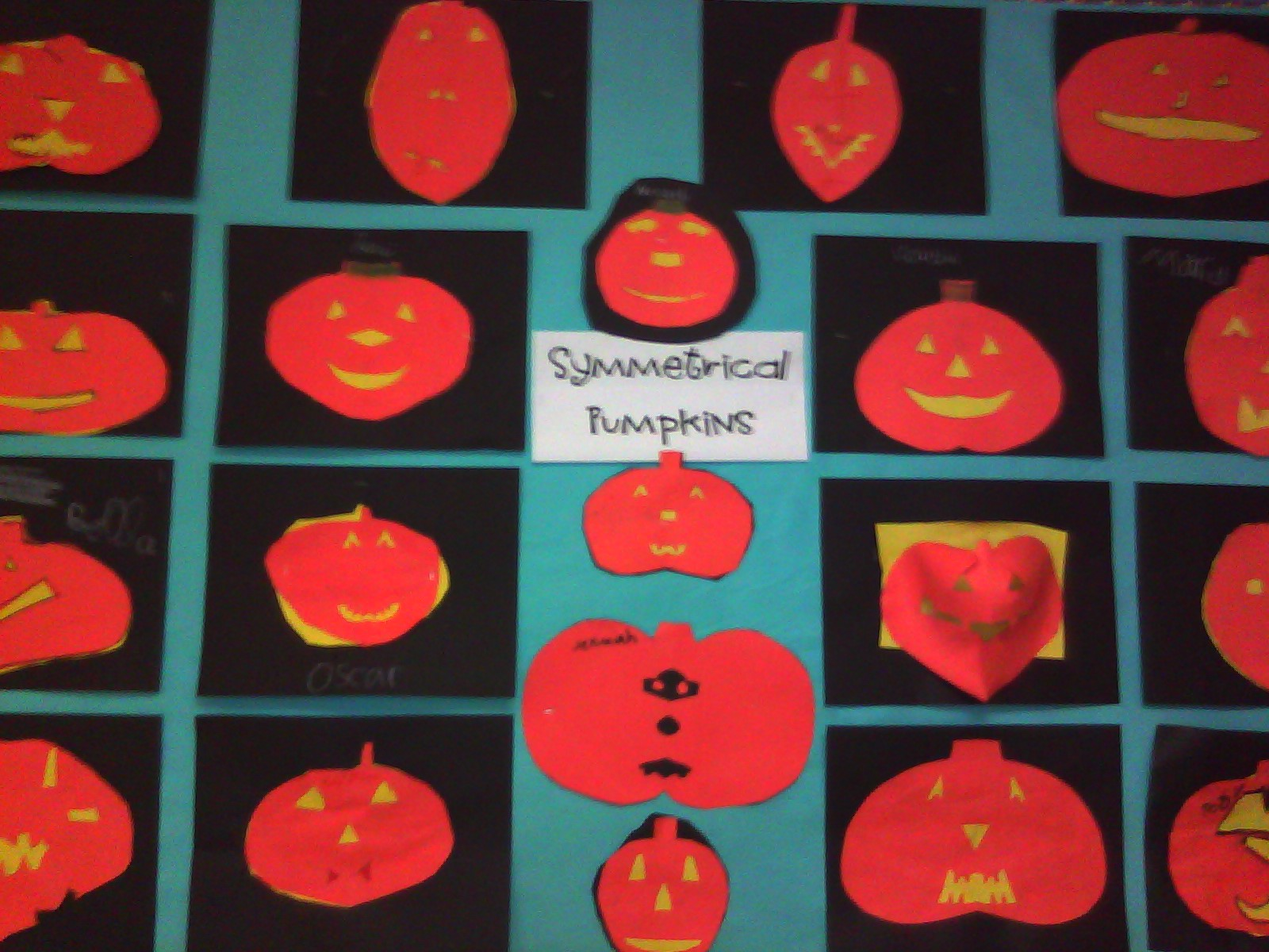 Kids Rock Symmetrical Pumpkins