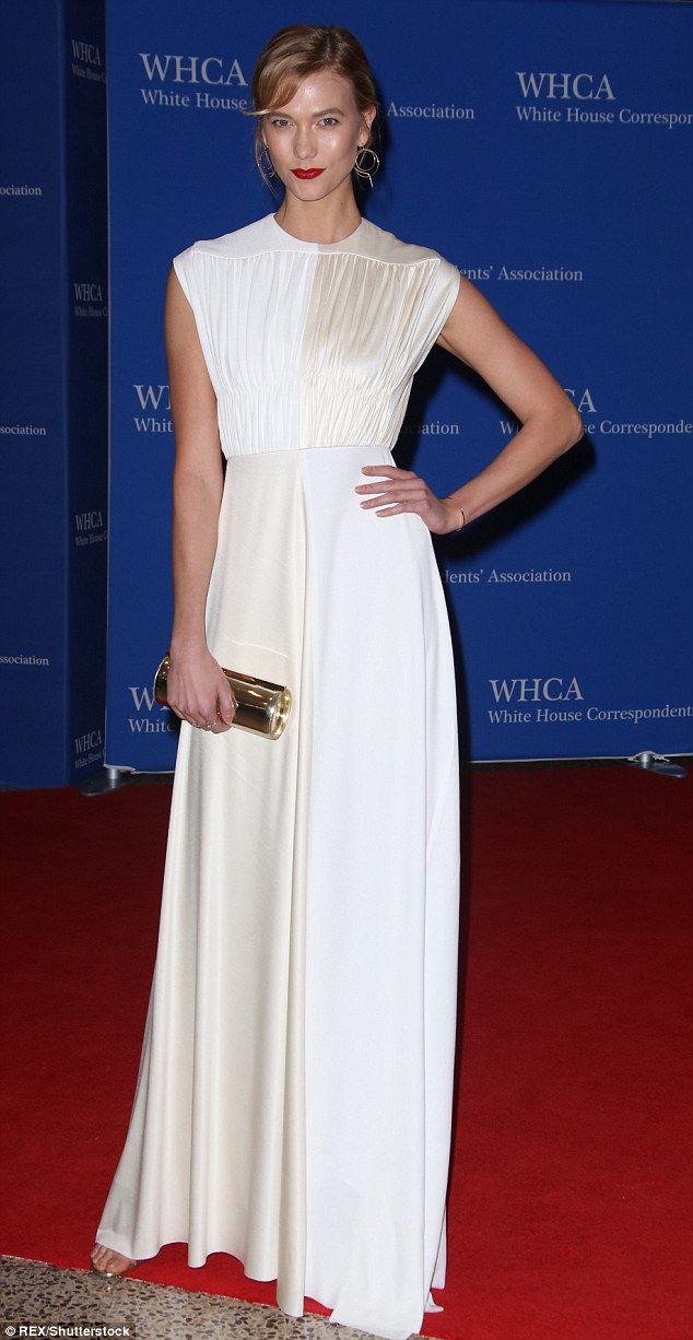 Karlie Kloss goes vintage glamorous for the White House Correspondents' Dinner