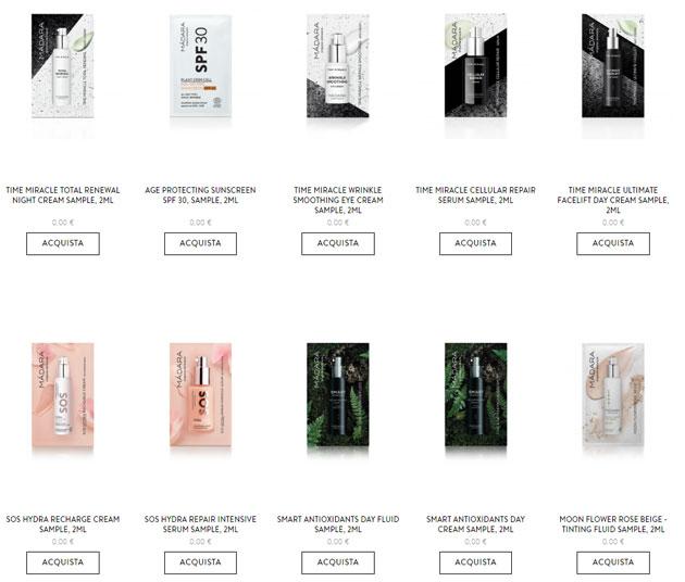 clicca qui per richiedere 10 campioni gratis dei cosmetici Màdara