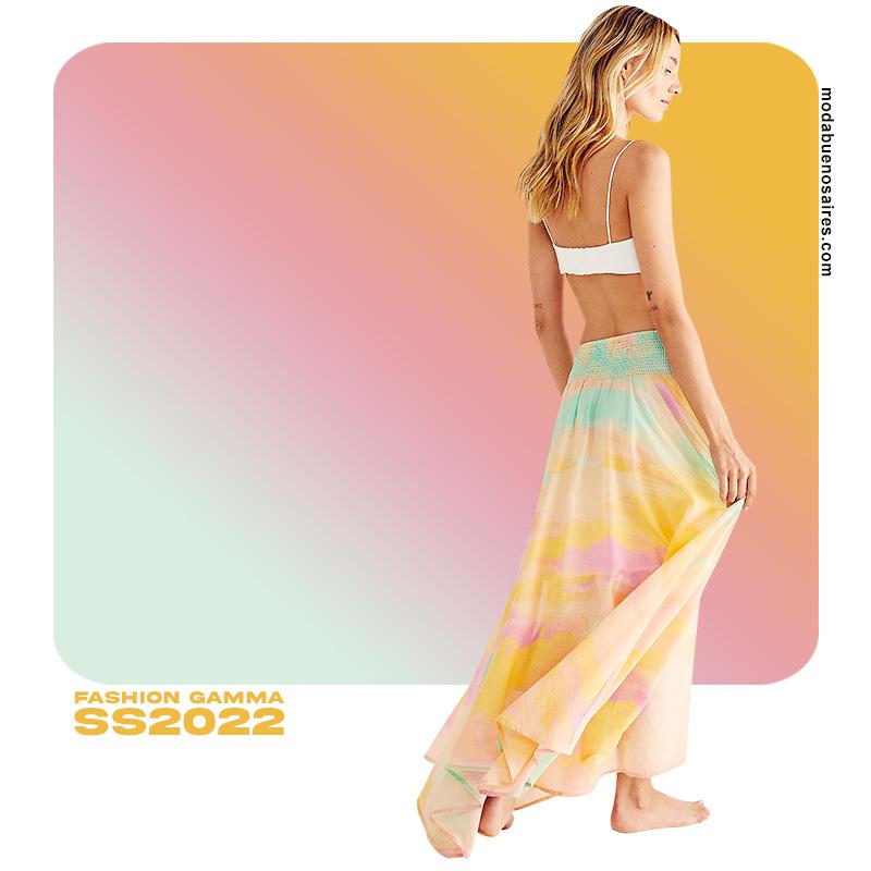 Colores en degrade moda primavera verano 2022 mujer