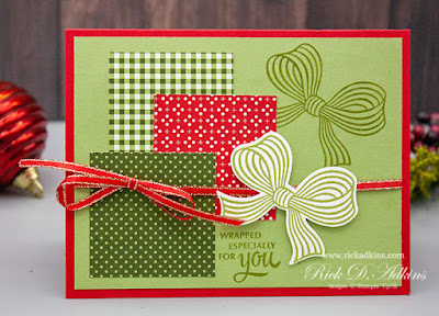 How to make 3 quick & easy Christmas Cards using the Gift Wrapped Bundle from Stampin' Up! click here to learn more!