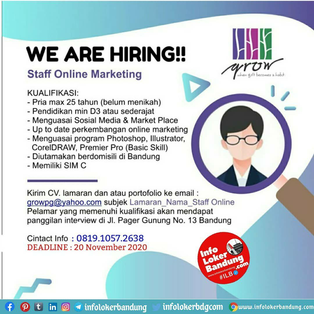 Lowongan Kerja Grow & Gift Bandung Oktober 2020
