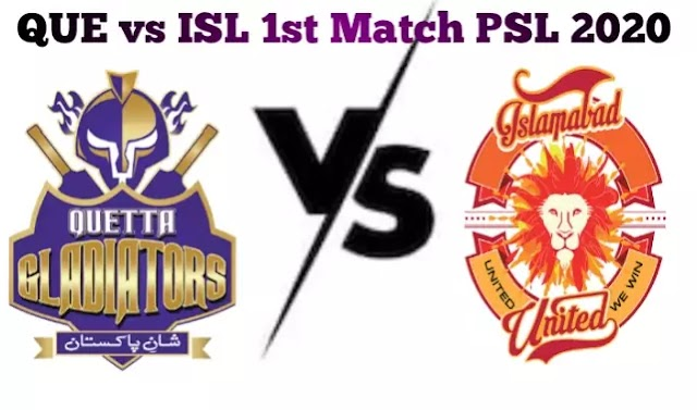 Today Match Prediction-QUE vs ISL 1st Match PSL 2020-Who Will Win