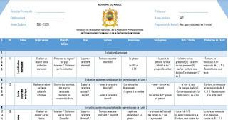 التوزيع السنوي  فرنسية المستوى الرابع المنهج الجديد 2019l2020 répartition annuelle